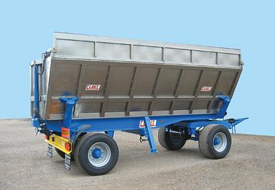 Rimorchio agricolo ribaltabile per trasporto uva for Vasca trasporto uva usata
